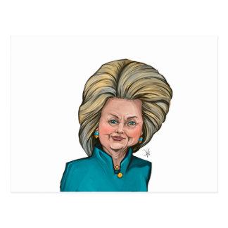 Carte Postale Caricature de Hillary Clinton