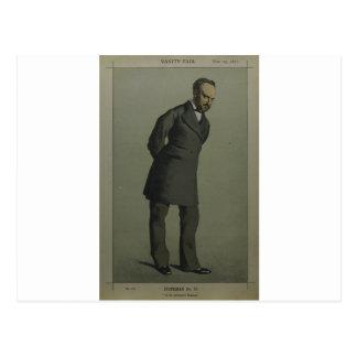 Carte Postale Caricature de monsieur Charles Wentworth Dilke