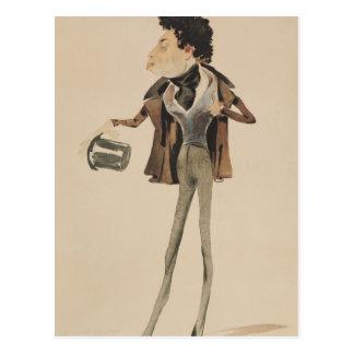 Carte Postale Caricature des doumas Pere d'Alexandre