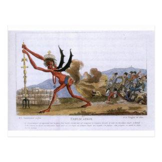 Carte Postale Caricature du gouvernement anglais Jacques-Louis