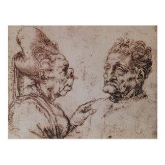 Carte Postale Caricature par Leonardo da Vinci