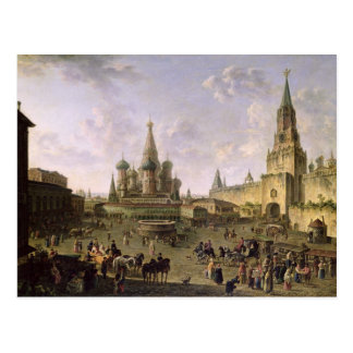 Carte Postale Carré rouge, Moscou, 1801