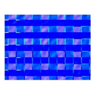 Carte Postale Carrés de contrôle de bleu royal