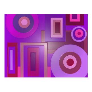 Carte Postale carrés pourpres de cercles
