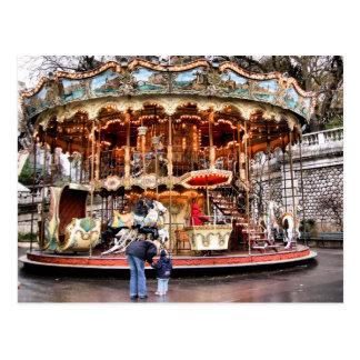 Carte Postale Carrousel dans Montmartre