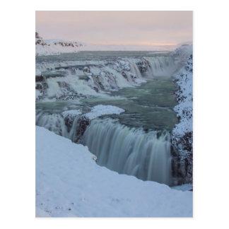 Carte Postale Cascade de Gullfoss en Islande