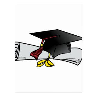 Carte Postale Casquette et diplôme