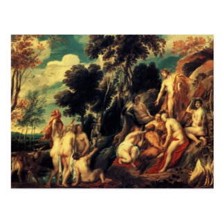 Carte Postale Casserole punie par les nymphes par Jacob Jordaens