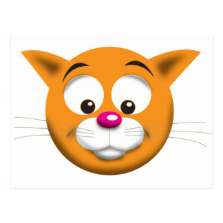 CARTE POSTALE CAT HEUREUX