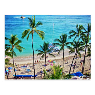 Carte Postale Catamaran de Waikiki
