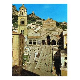Carte Postale Cathédrale de l'Italie vintage, Amalfi