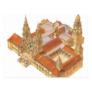 Carte Postale Cathédrale de Saint-Jacques-de-Compostelle.