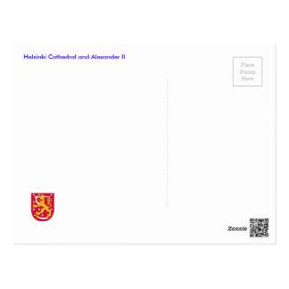 Carte Postale Cathédrale et Alexandre de Helsinki II