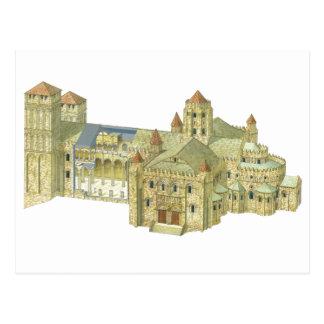 Carte Postale Cathédrale romane de Saint-Jacques-de-Compostelle.
