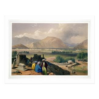 Carte Postale Caubul, d'un au sol d'enterrement sur la montagne