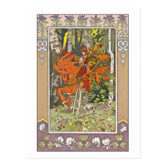 Carte Postale Cavalier rouge par Ivan Bilibin