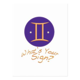Carte Postale Ce qui est votre signe ?.