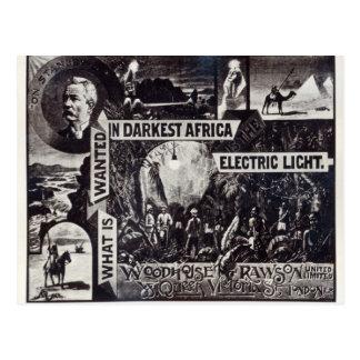 Carte Postale Ce qui est voulu en Afrique la plus foncée est