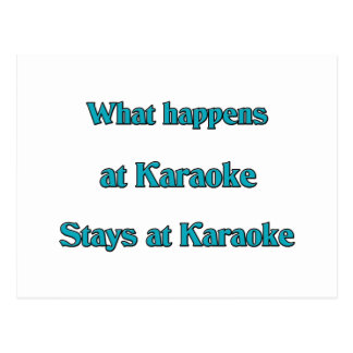 Carte Postale Ce qui se produit au karaoke