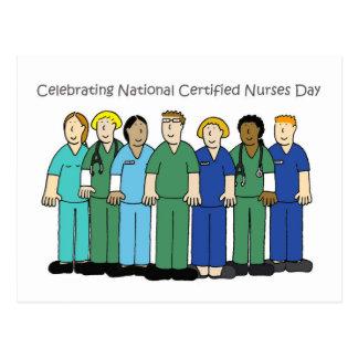 Carte Postale Célébration du jour d'infirmières certifiées