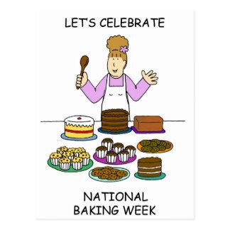 Carte Postale Célébrons la semaine nationale de cuisson
