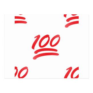 Carte Postale cent emoji