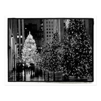 Carte postale centrale d arbre de Noël de Rockefel