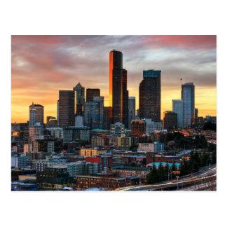 Carte Postale Centre de Colombie et Seattle du centre, Seattle