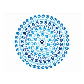 Carte Postale Cercle bleu de patte