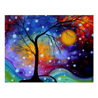 Carte Postale Cercle d'étincelle d'hiver de la peinture de la