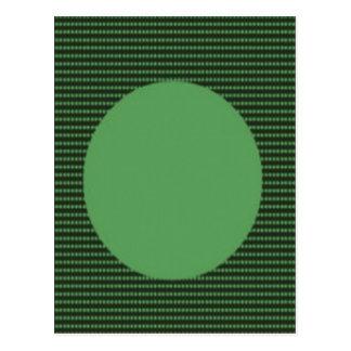 Carte Postale Cercle entier de point vert