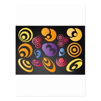 Carte Postale cercles d'arc-en-ciel