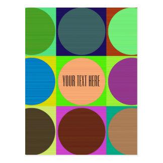 Carte Postale Cercles de couleur dans des carrés