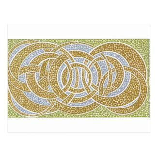 Carte Postale cercles d'or