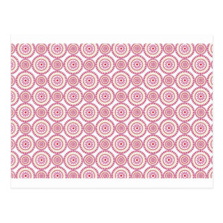 Carte Postale Cercles Girly roses