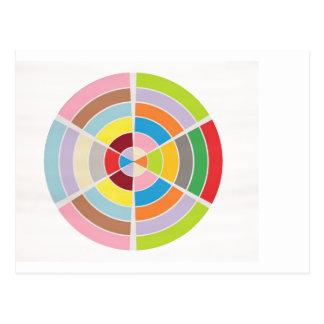 Carte Postale Cercles parfaits - roue de couleur