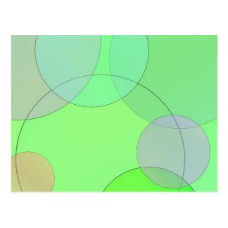 Carte Postale Cercles verts