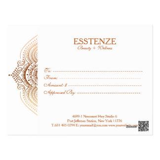 Carte Postale Certificat-prime de dentelle de Rose-Or