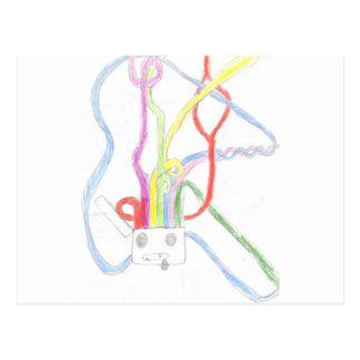 Carte Postale Cerveau d'arc-en-ciel