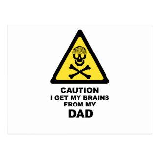 Carte Postale cerveaux de papas
