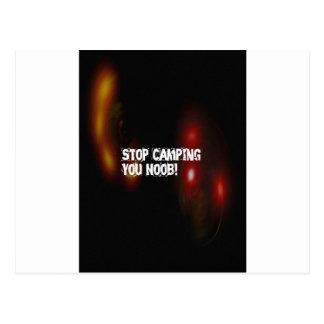 Carte Postale Cessez de camper vous Noob