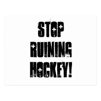 Carte Postale Cessez de ruiner l'hockey, masquez
