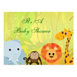 Carte Postale C'est un baby shower de jungle