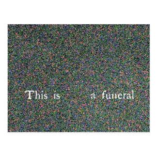 Carte Postale c'est un enterrement