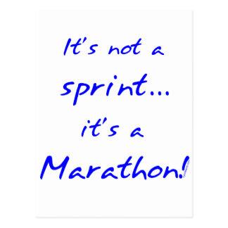 Carte Postale C'est un marathon - bleu