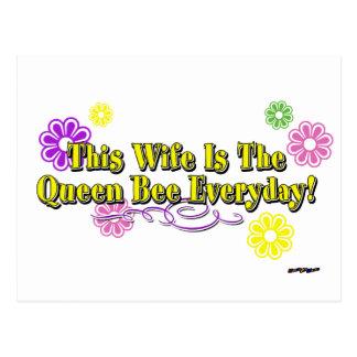 Carte Postale Cette épouse est la reine des abeilles quotidienne