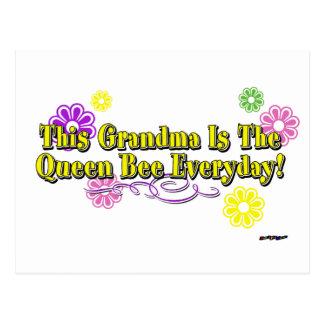 Carte Postale Cette grand-maman est la reine des abeilles