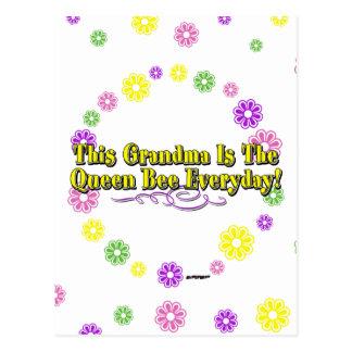 Carte Postale Cette grand-maman est les fleurs quotidiennes de