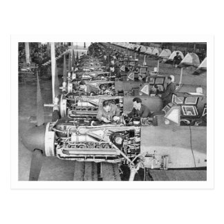 Carte Postale Chaîne de production de Messerschmitt Bf109 à