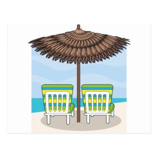 Carte Postale Chaises de plage
